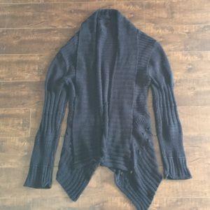 Gimmick knit cardigan